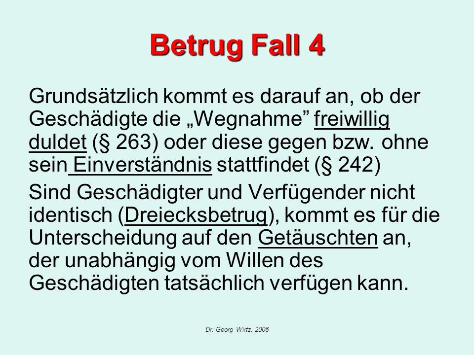 Betrug Fall 4