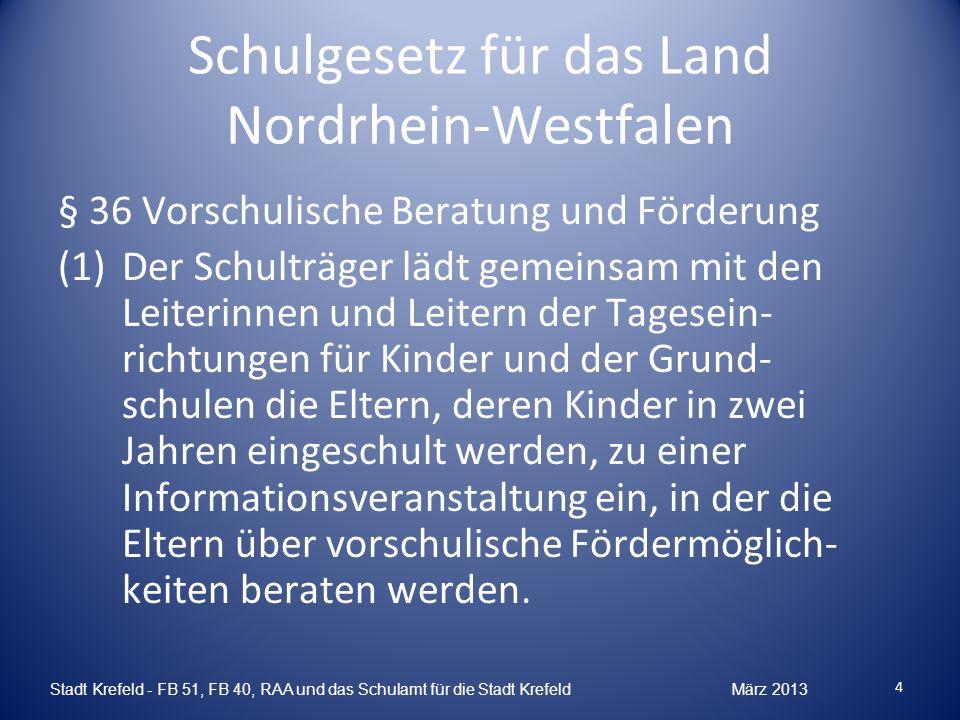 Schulgesetz für das Land Nordrhein-Westfalen