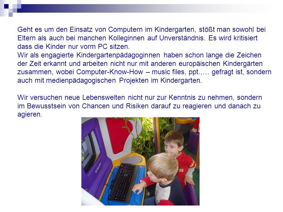 Geht es um den Einsatz von Computern im Kindergarten, stößt man sowohl bei