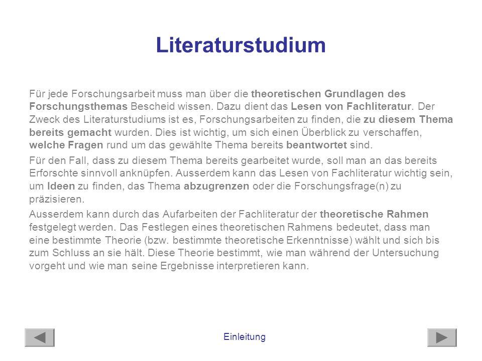 Literaturstudium