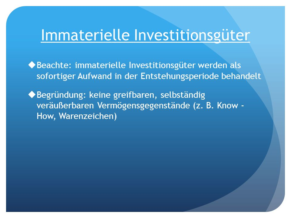 Immaterielle Investitionsgüter