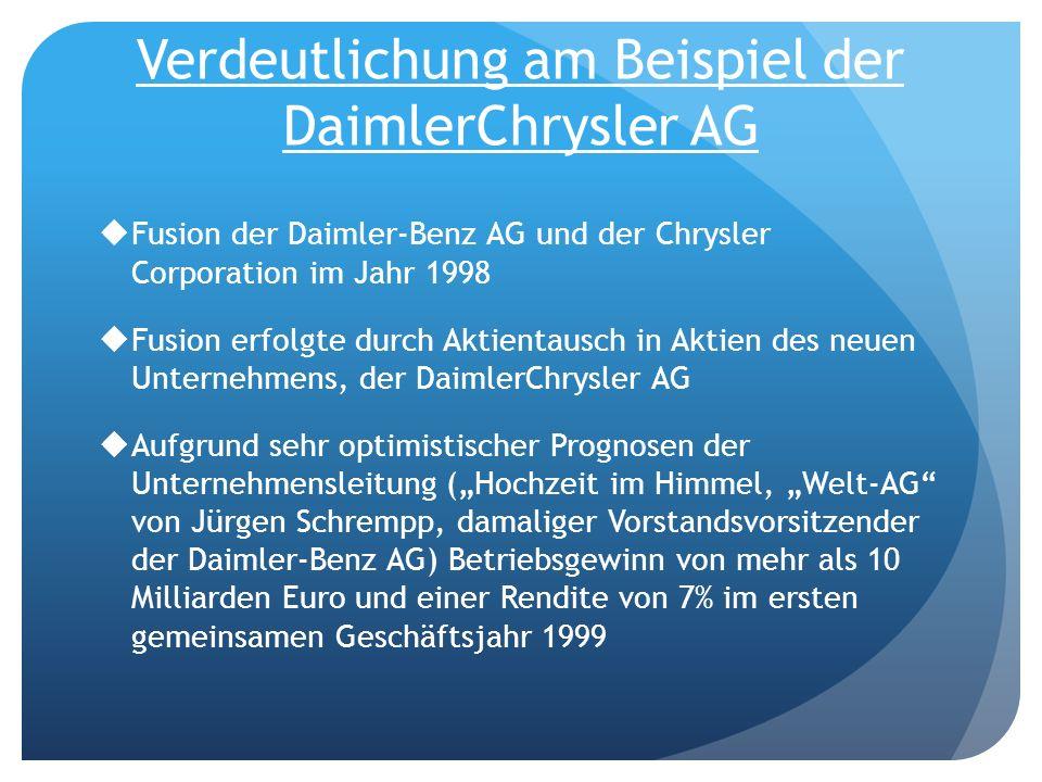 Verdeutlichung am Beispiel der DaimlerChrysler AG