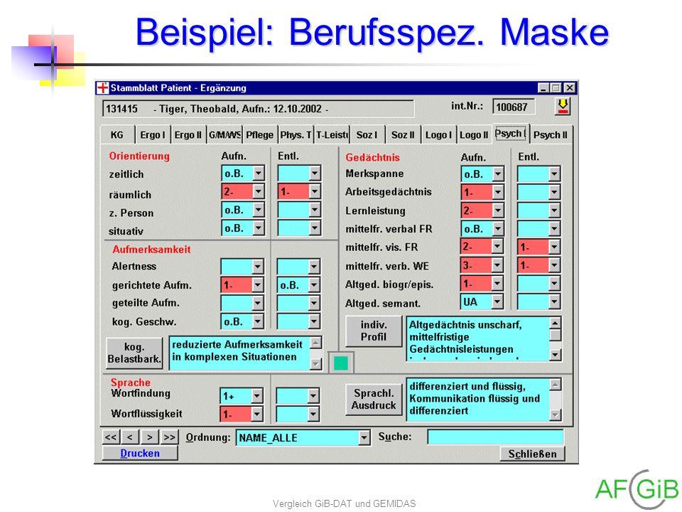 Beispiel: Berufsspez. Maske