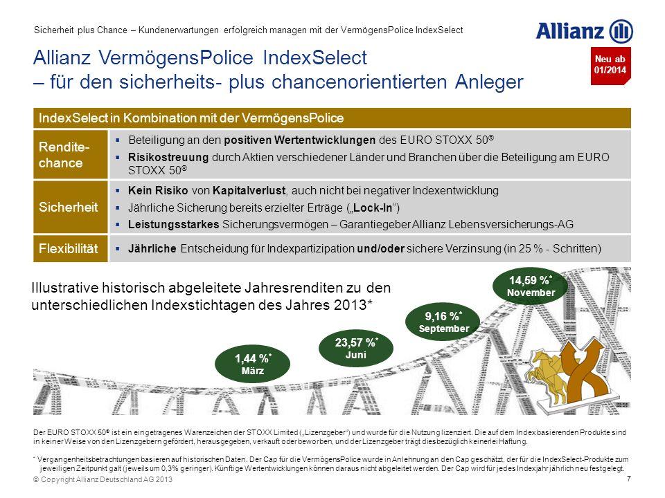Sicherheit plus Chance – Kundenerwartungen erfolgreich managen mit der VermögensPolice IndexSelect