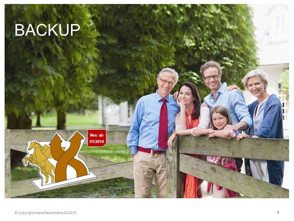 BACKUP Neu ab 01/2014 © Copyright Allianz Deutschland AG 2013