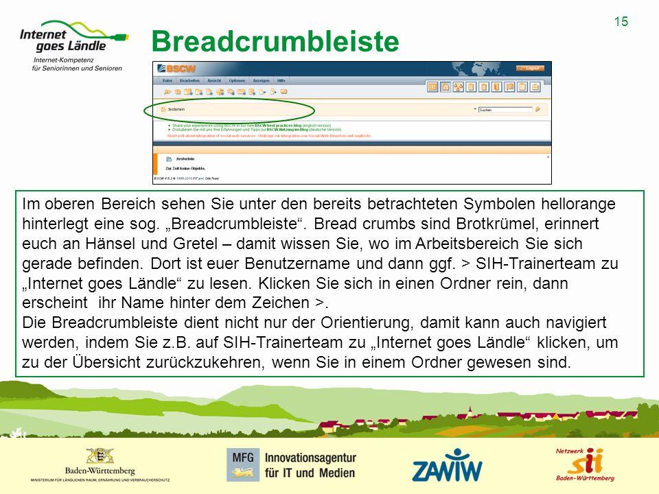 Breadcrumbleiste