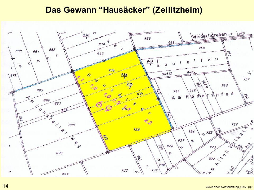 Das Gewann Hausäcker (Zeilitzheim)