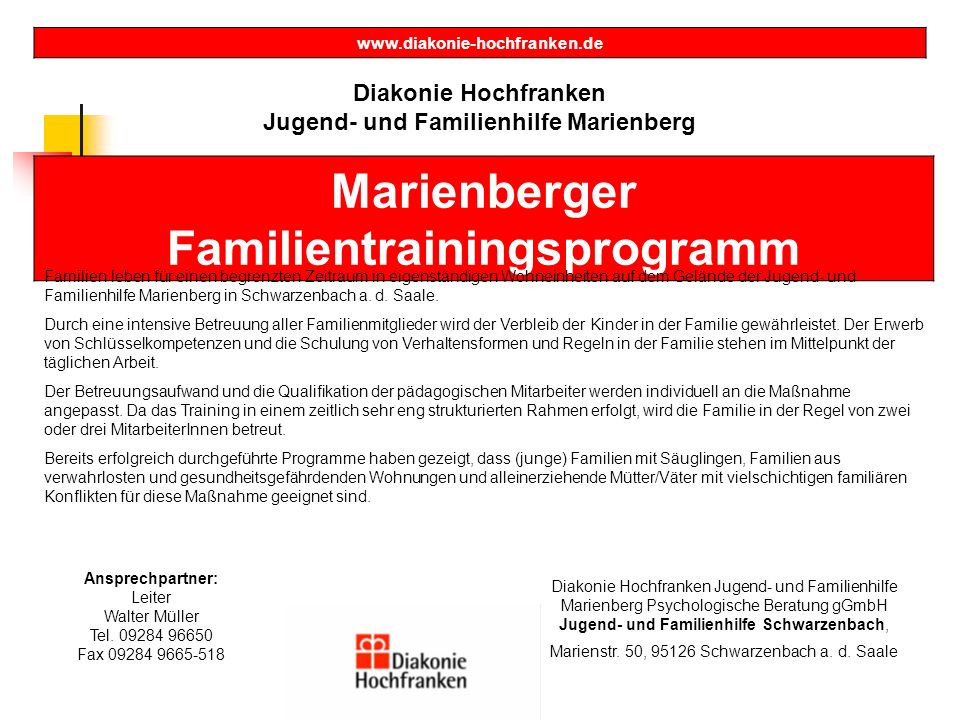 Marienberger Familientrainingsprogramm