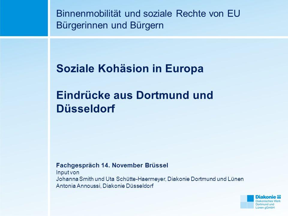 Soziale Kohäsion in Europa Eindrücke aus Dortmund und Düsseldorf
