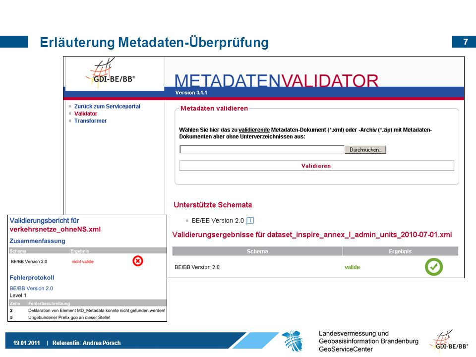 Erläuterung Metadaten-Überprüfung