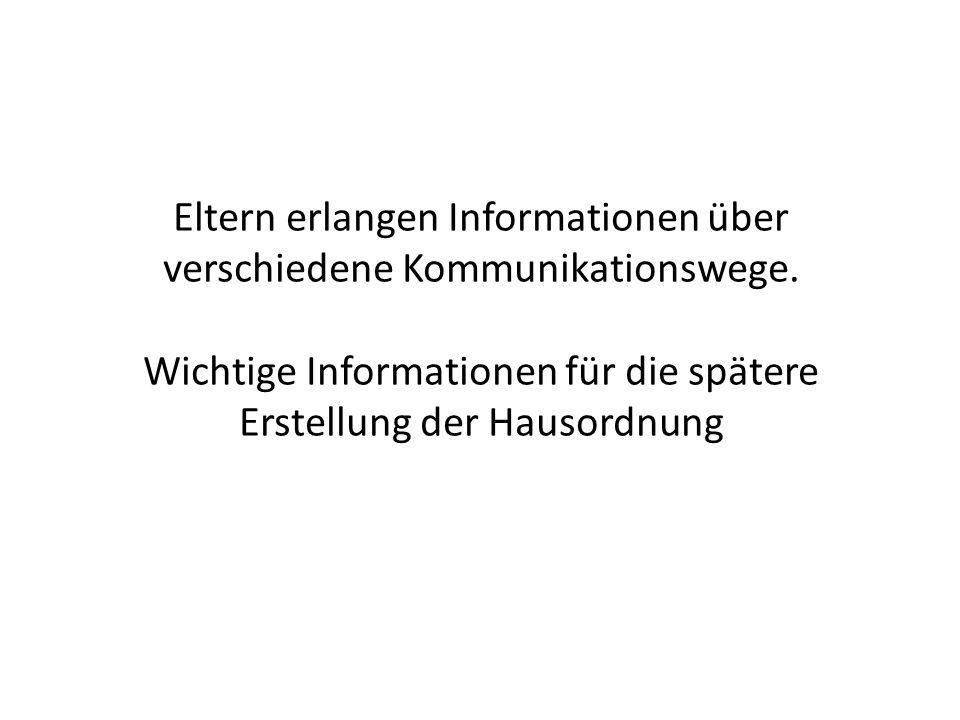Eltern erlangen Informationen über verschiedene Kommunikationswege