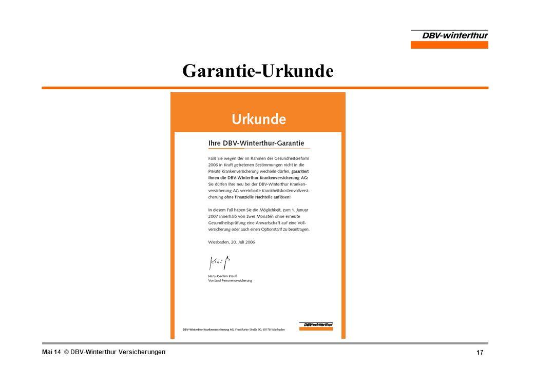 Garantie-Urkunde