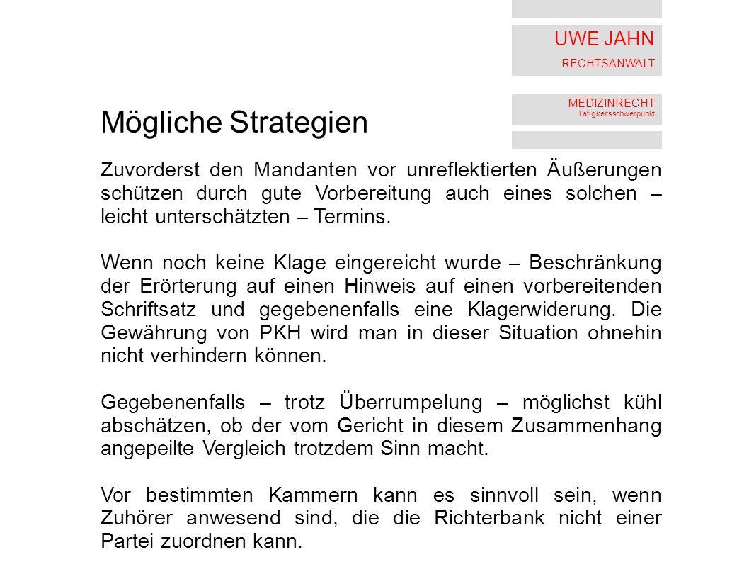 Mögliche Strategien