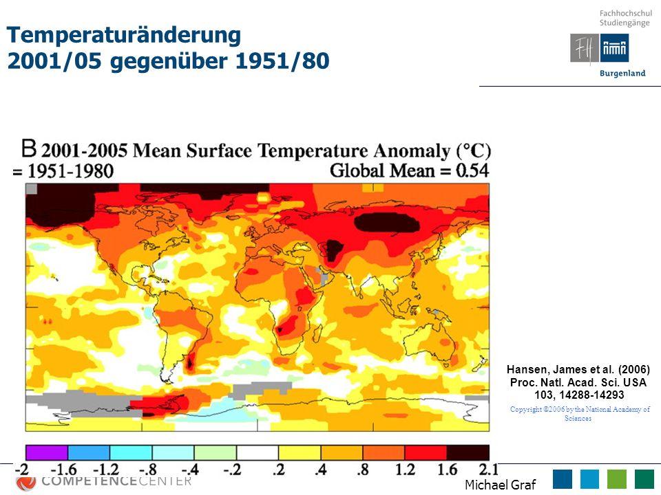 Temperaturänderung 2001/05 gegenüber 1951/80