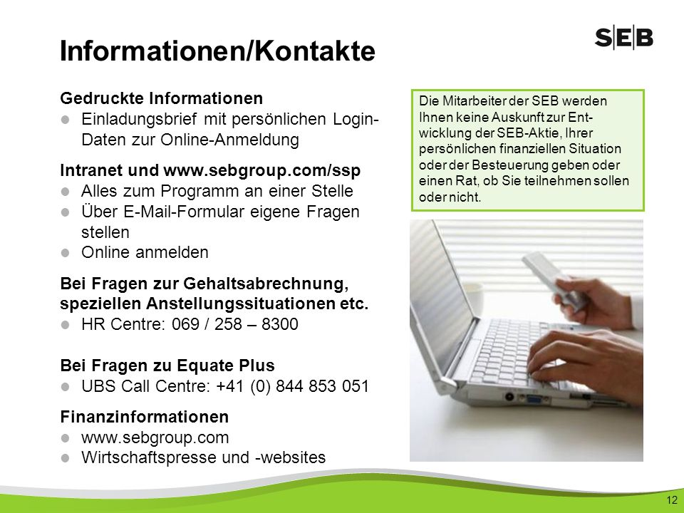 Informationen/Kontakte