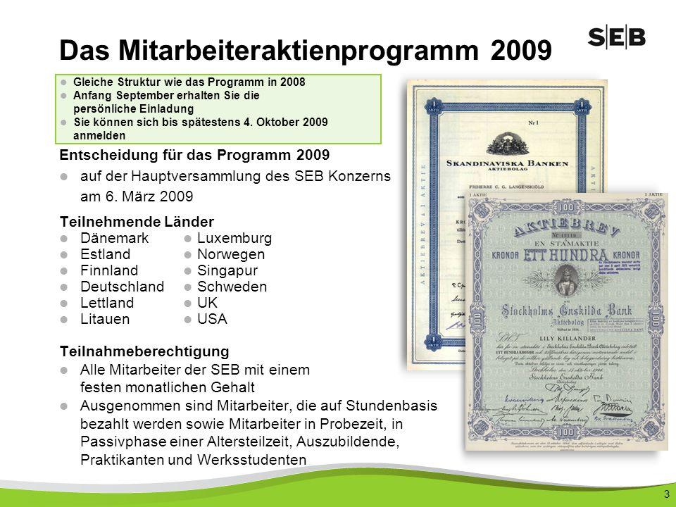 Das Mitarbeiteraktienprogramm 2009