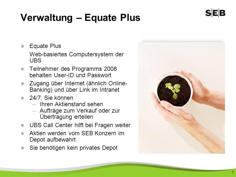 Verwaltung – Equate Plus