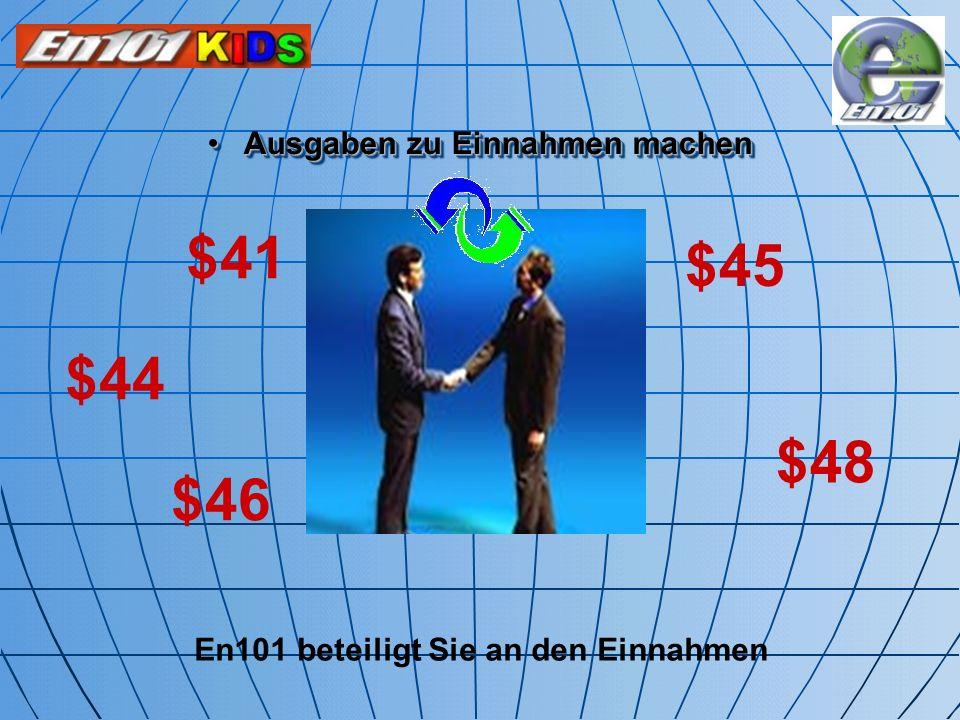 Ausgaben zu Einnahmen machen En101 beteiligt Sie an den Einnahmen
