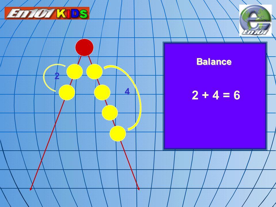 Balance 2 4 2 + 4 = 6