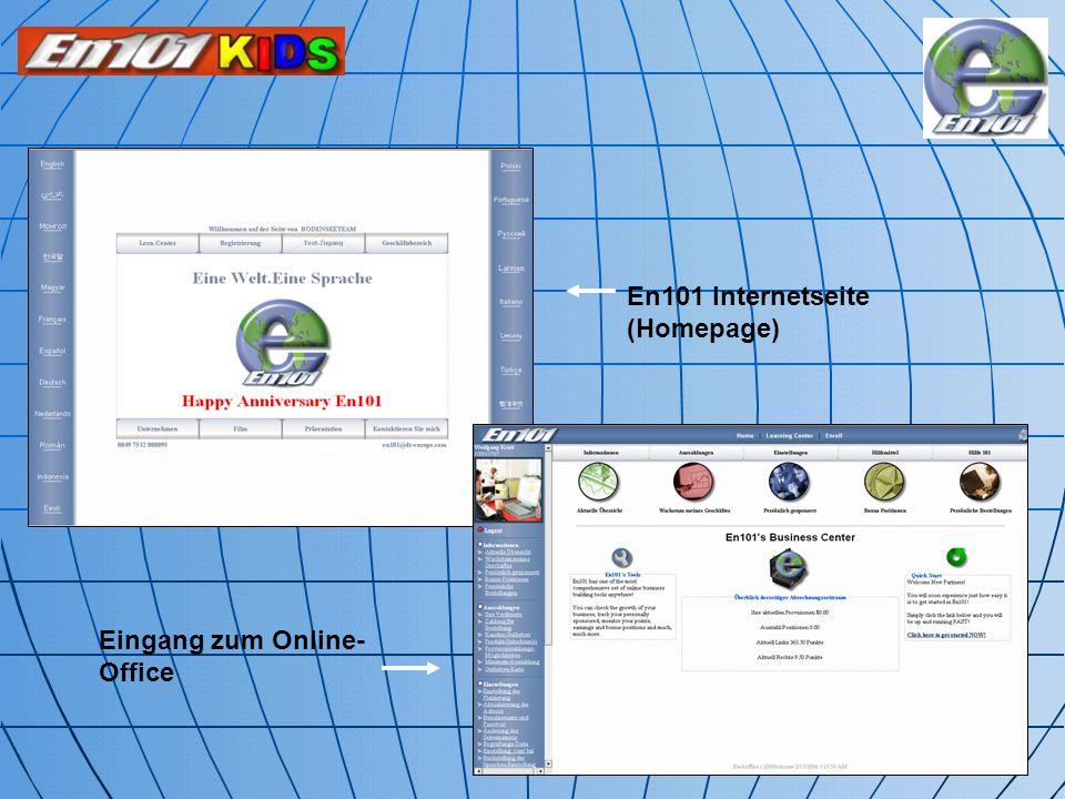 En101 Internetseite (Homepage)