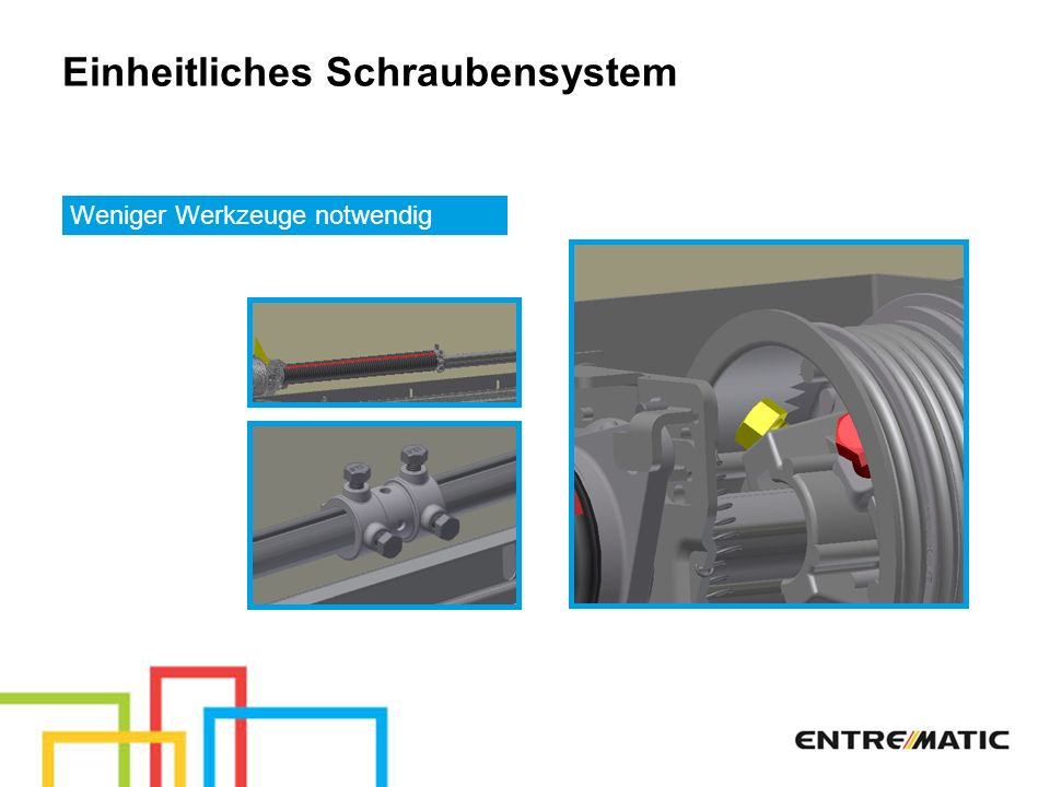 Einheitliches Schraubensystem
