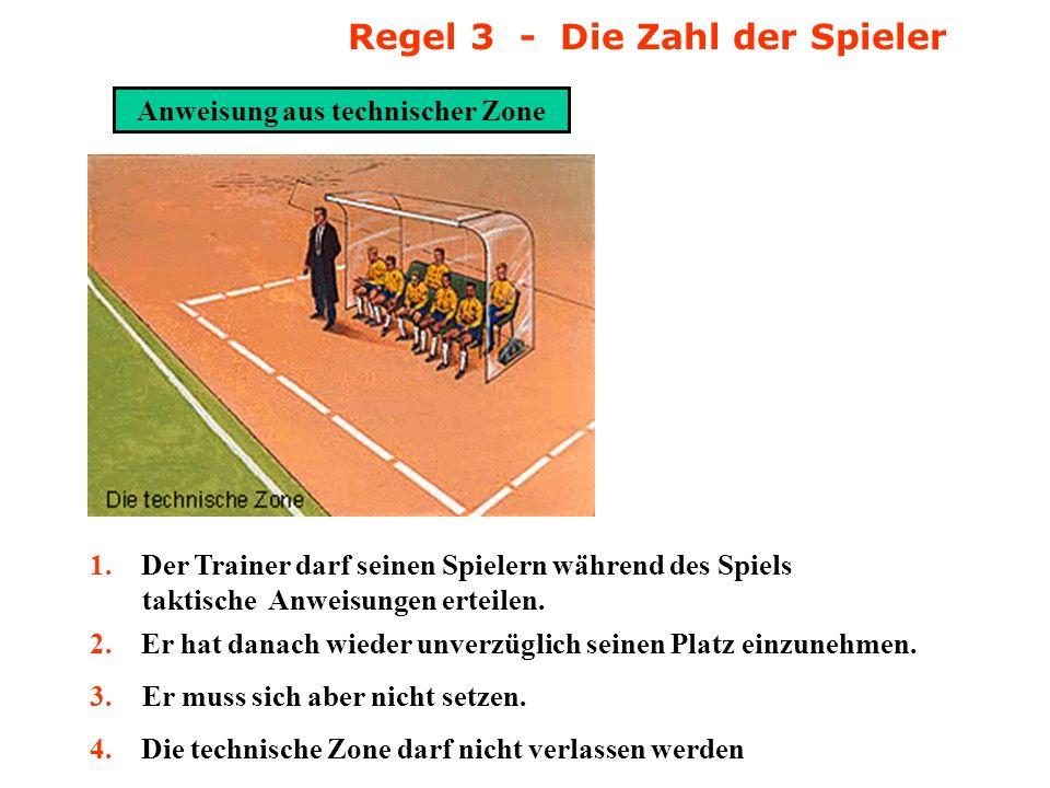 Regel 3 - Die Zahl der Spieler Anweisung aus technischer Zone
