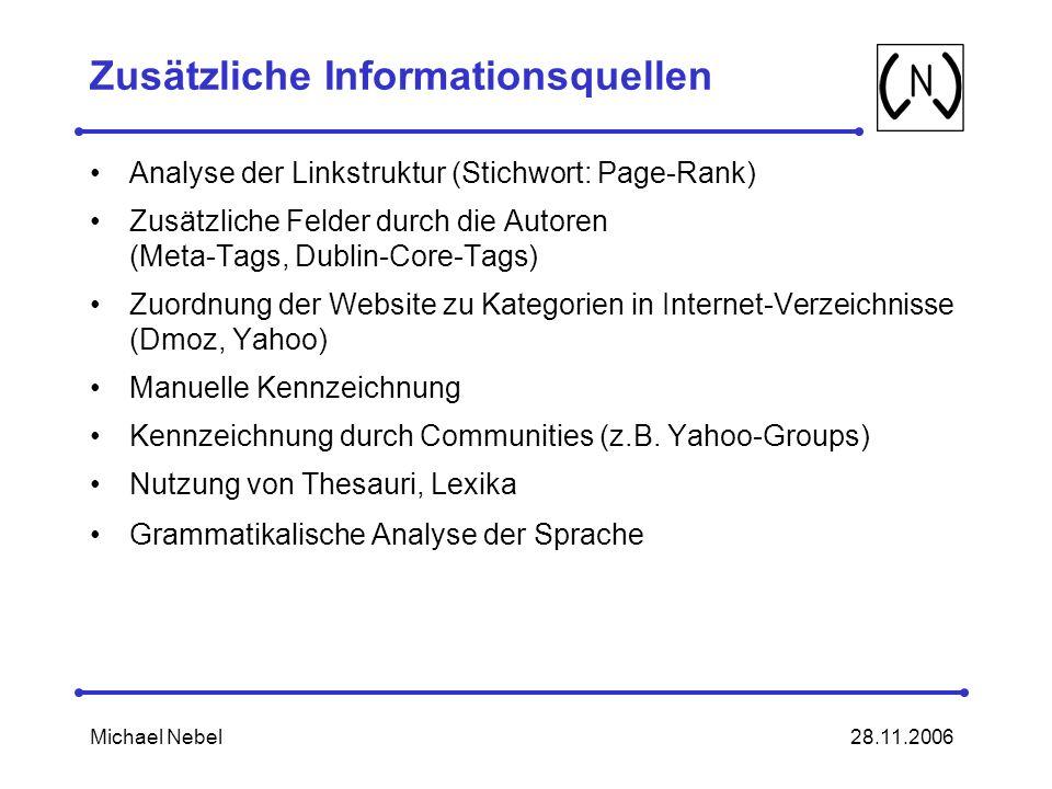 Zusätzliche Informationsquellen
