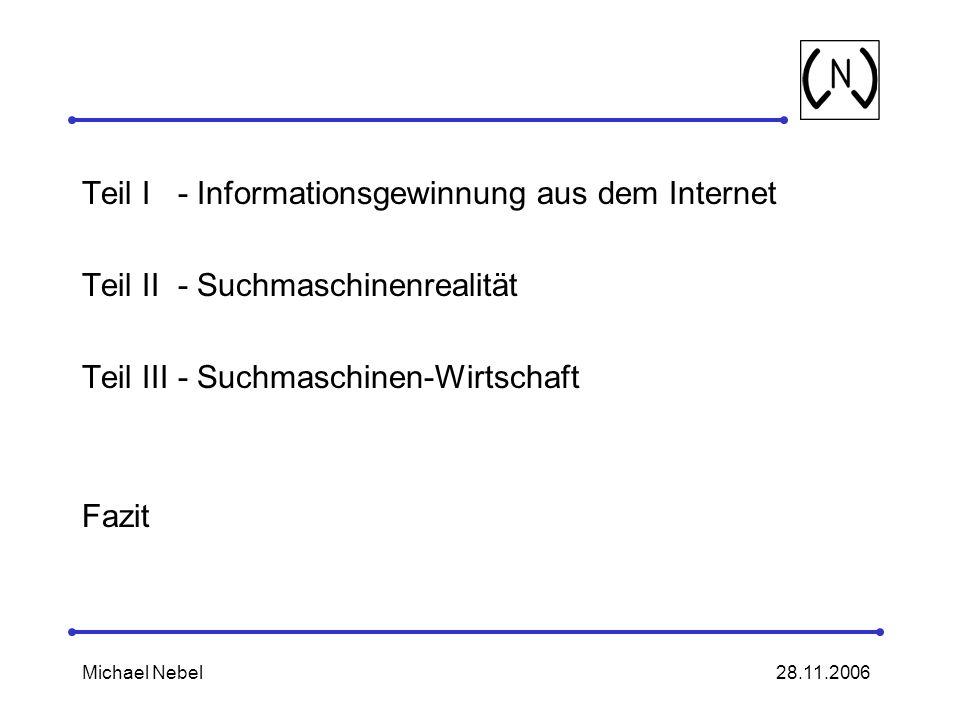Teil I - Informationsgewinnung aus dem Internet