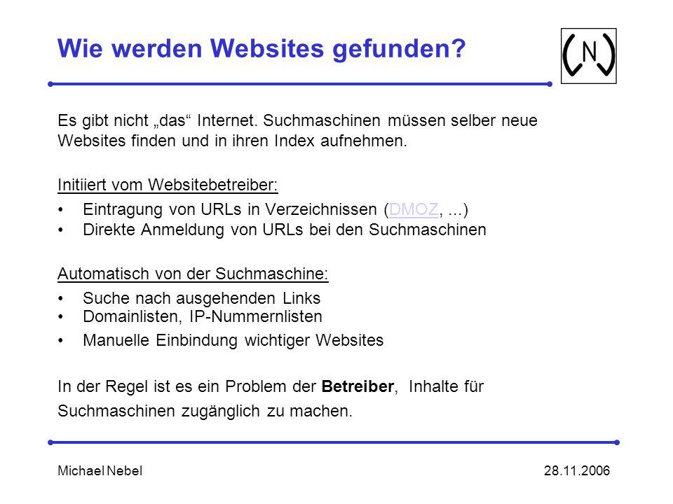Wie werden Websites gefunden