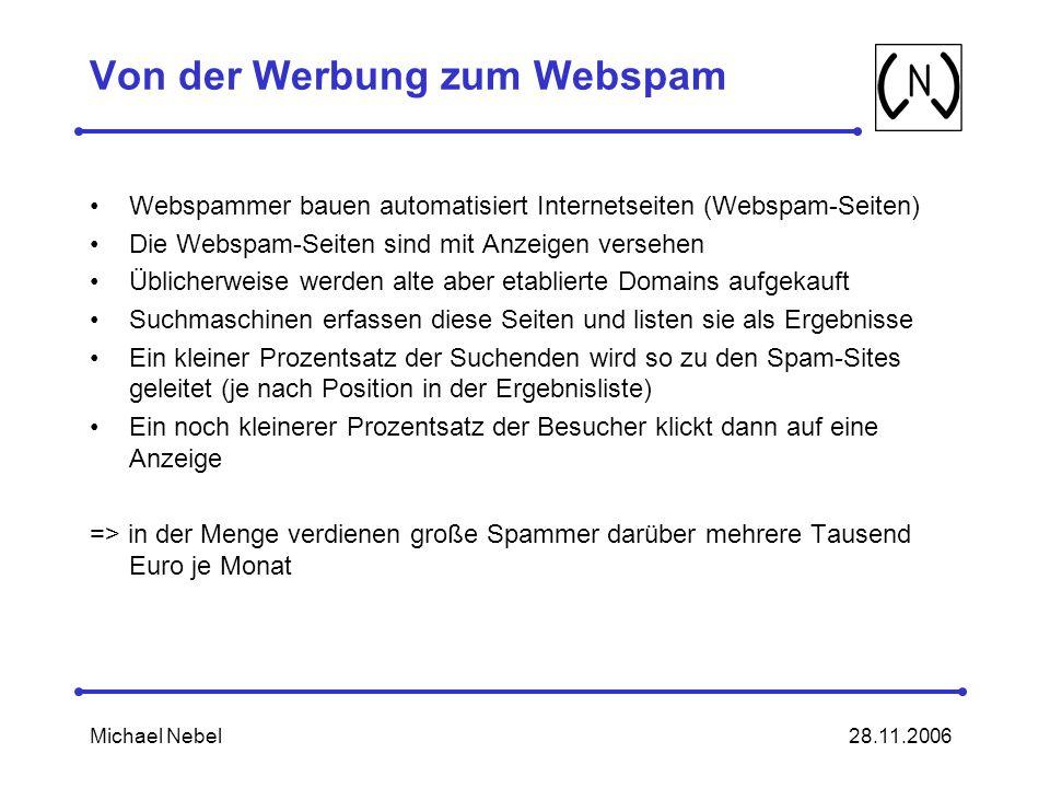 Von der Werbung zum Webspam
