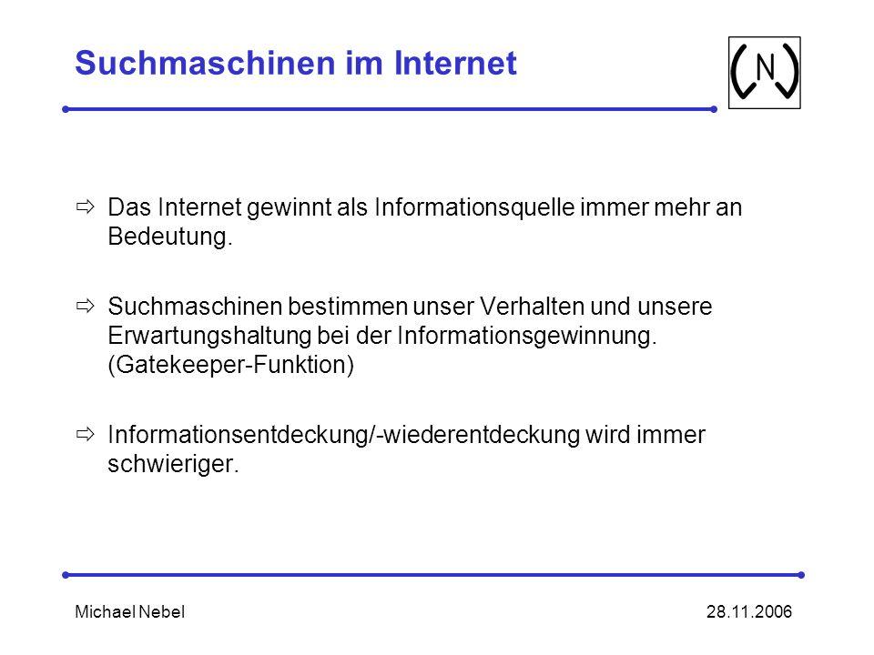 Suchmaschinen im Internet