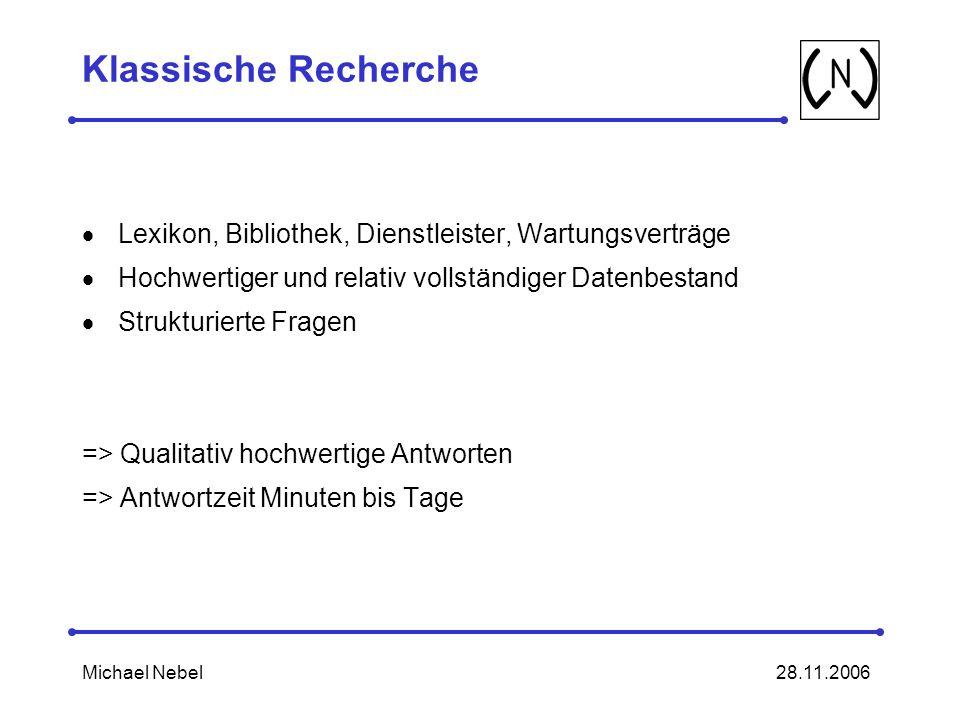Klassische Recherche Lexikon, Bibliothek, Dienstleister, Wartungsverträge. Hochwertiger und relativ vollständiger Datenbestand.
