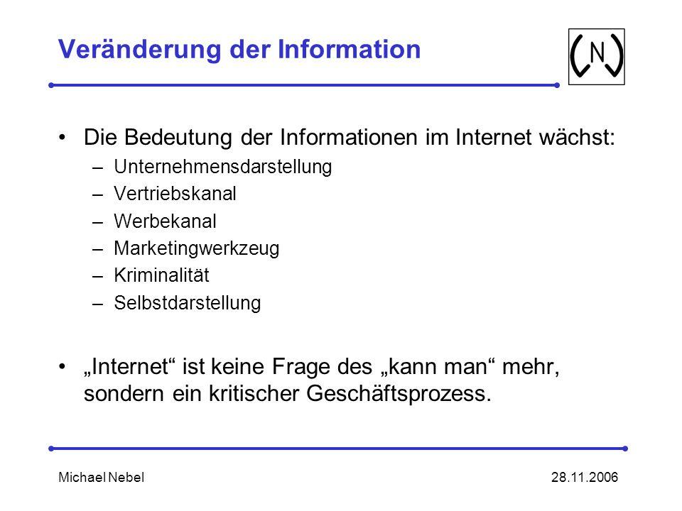 Veränderung der Information