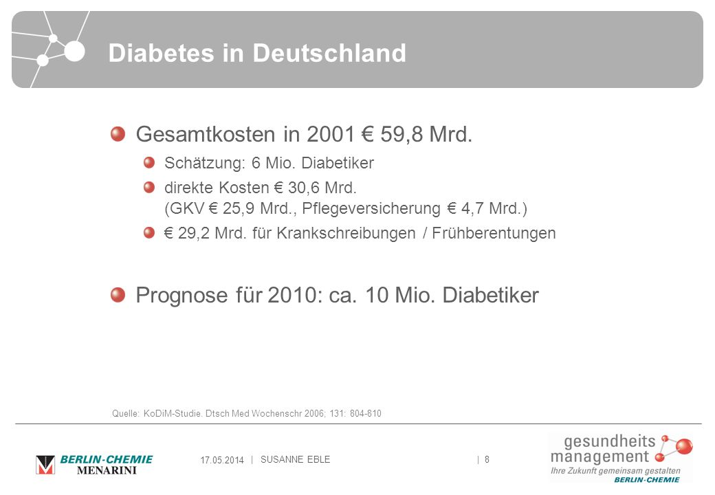 Diabetes in Deutschland