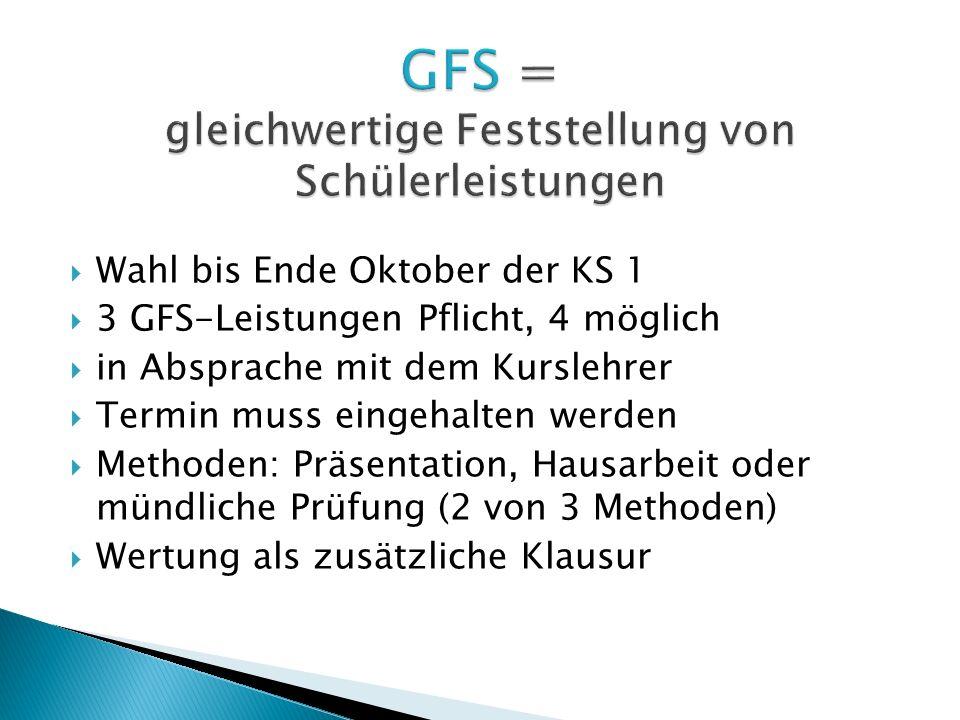 GFS = gleichwertige Feststellung von Schülerleistungen