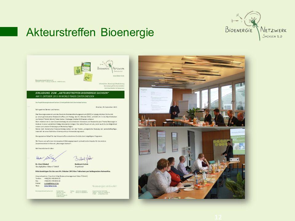 Akteurstreffen Bioenergie