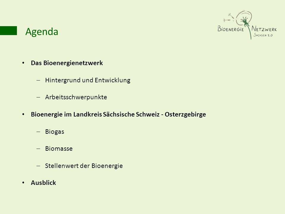 Agenda Das Bioenergienetzwerk Hintergrund und Entwicklung