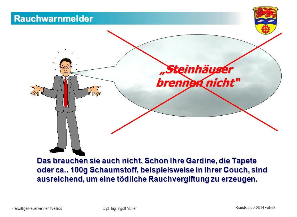 """""""Steinhäuser brennen nicht"""