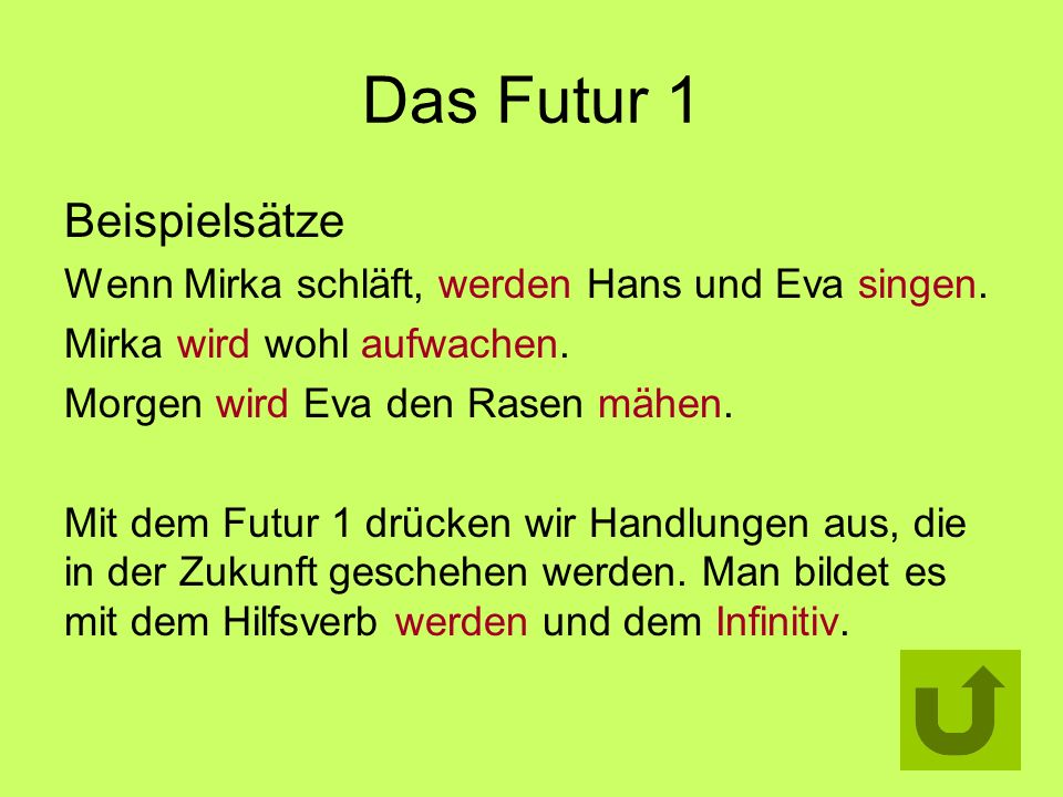 Das Futur 1 Beispielsätze