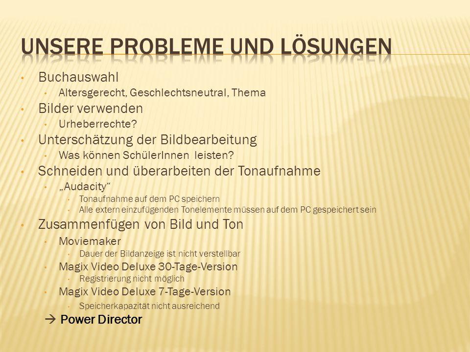 Unsere Probleme und Lösungen