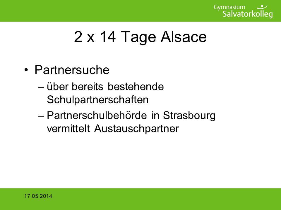 2 x 14 Tage Alsace Partnersuche