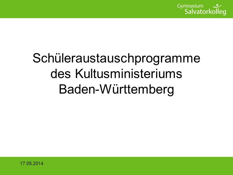Schüleraustauschprogramme des Kultusministeriums Baden-Württemberg