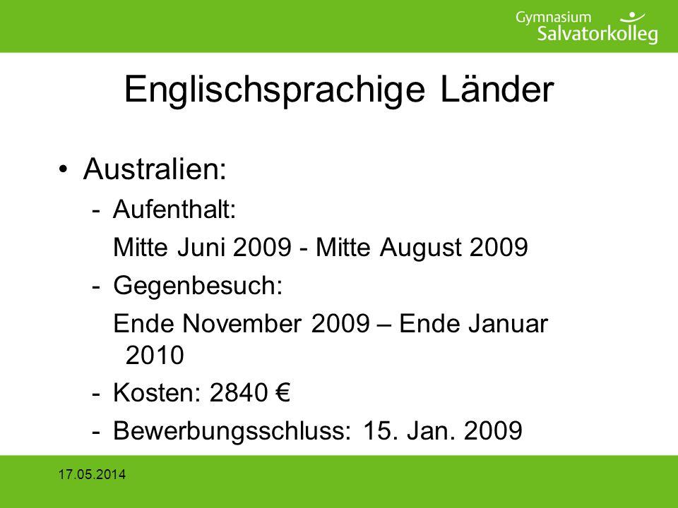 Englischsprachige Länder