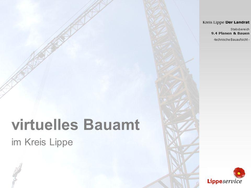 virtuelles Bauamt im Kreis Lippe -technische Bauaufsicht -