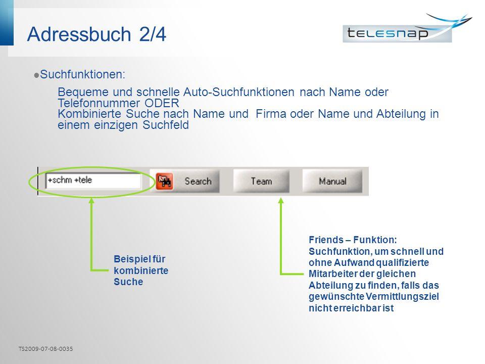 Adressbuch 2/4 Suchfunktionen: