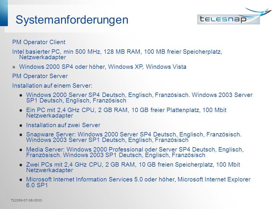 Systemanforderungen PM Operator Client