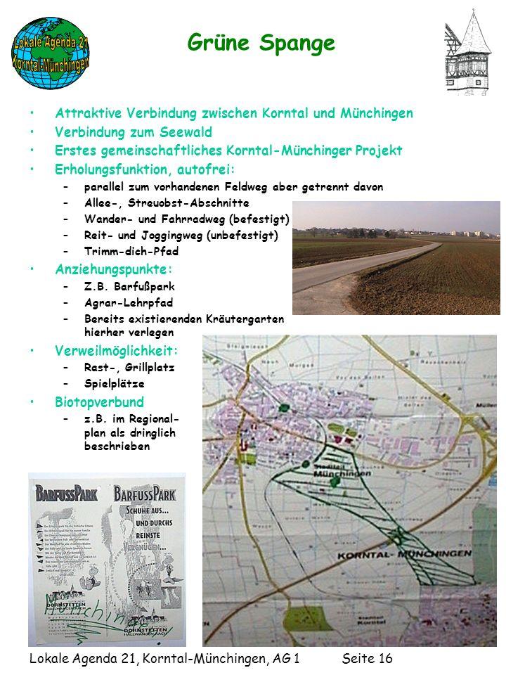 Grüne Spange Attraktive Verbindung zwischen Korntal und Münchingen