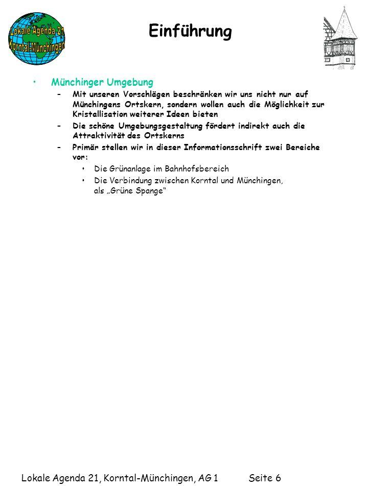 Einführung Münchinger Umgebung