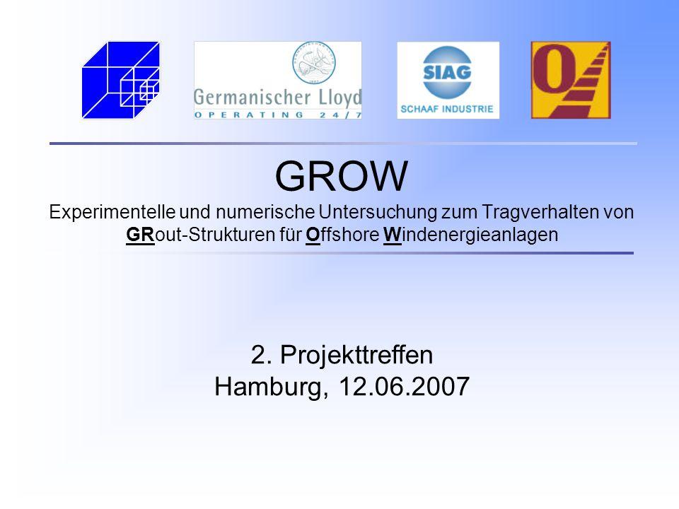 GROW Experimentelle und numerische Untersuchung zum Tragverhalten von GRout-Strukturen für Offshore Windenergieanlagen