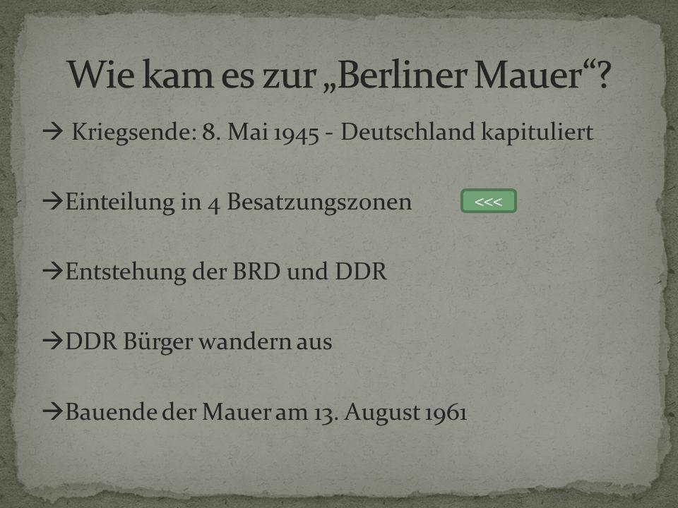 """Wie kam es zur """"Berliner Mauer"""